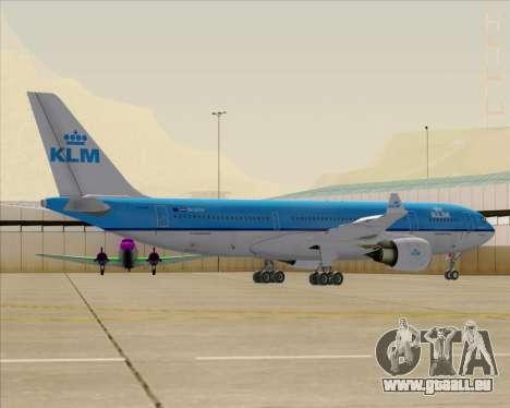 Airbus A330-200 KLM - Royal Dutch Airlines pour GTA San Andreas roue
