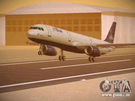 Airbus A321-232 jetBlue Batty Blue für GTA San Andreas linke Ansicht