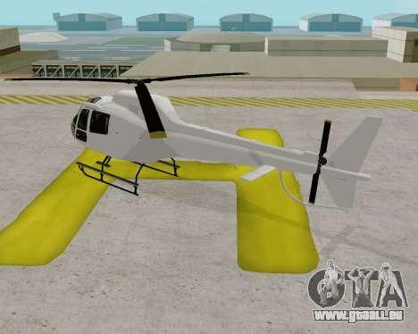 Buckingham Maverick V1.0 pour GTA San Andreas sur la vue arrière gauche