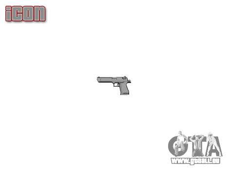 Pistolet IMI Desert Eagle Mk XIX Or pour GTA 4 troisième écran