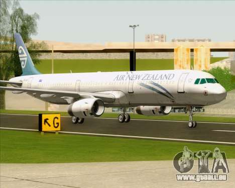 Airbus A321-200 Air New Zealand für GTA San Andreas linke Ansicht