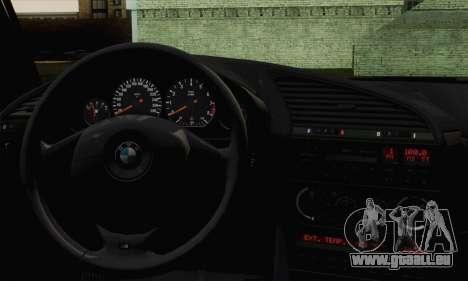 BMW M3 E36 Tuned pour GTA San Andreas sur la vue arrière gauche