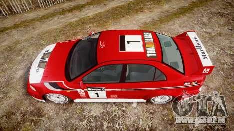 Mitsubishi Lancer Evolution VI Rally Marlboro für GTA 4 rechte Ansicht