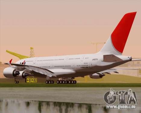 Airbus A380-800 Japan Airlines (JAL) pour GTA San Andreas vue de droite