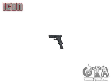 Pistolet Glock 18 pour GTA 4 troisième écran