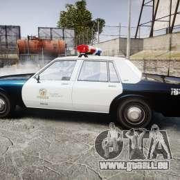 Chevrolet Impala 1985 LAPD [ELS] pour GTA 4 est une gauche