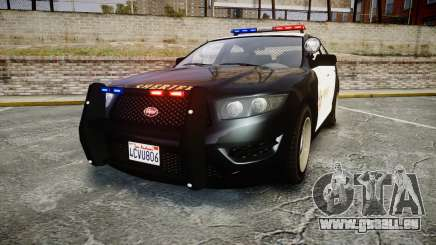 GTA V Vapid Interceptor LSS Black [ELS] pour GTA 4