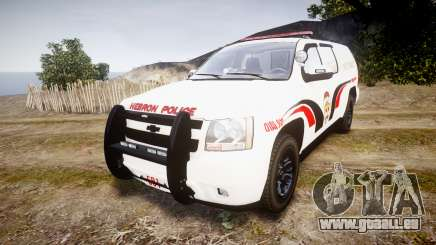 Chevrolet Suburban 2008 Hebron Police [ELS] Red pour GTA 4