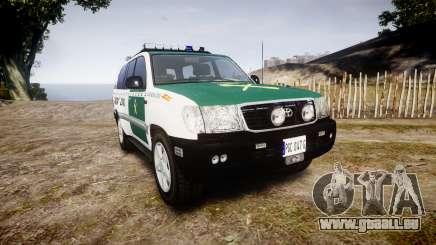 Toyota Land Cruiser Guardia Civil Cops [ELS] pour GTA 4