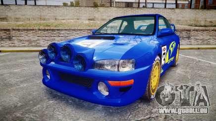 Subaru Impreza WRC 1998 Rally v2.0 Yellow für GTA 4