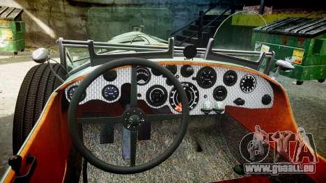 Bentley Blower 4.5 Litre Supercharged [low] für GTA 4 Rückansicht