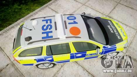 Skoda Octavia vRS Comb Metropolitan Police [ELS] für GTA 4 rechte Ansicht