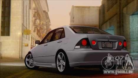 Toyota Altezza (RS200) 2004 (HQLM) pour GTA San Andreas laissé vue