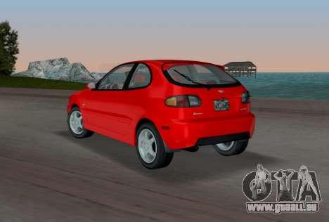 Daewoo Lanos Sport NOUS 2001 pour GTA Vice City sur la vue arrière gauche