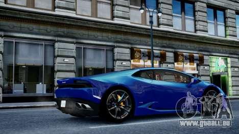 Lamborghini Huracan LP610-4 from Horizon 2 pour GTA 4 Vue arrière de la gauche
