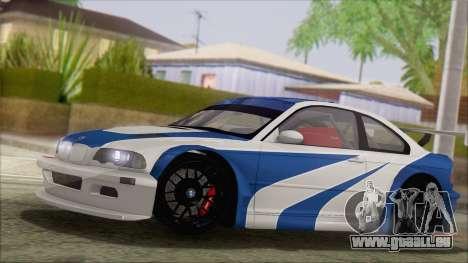 BMW M3 E46 GTR für GTA San Andreas