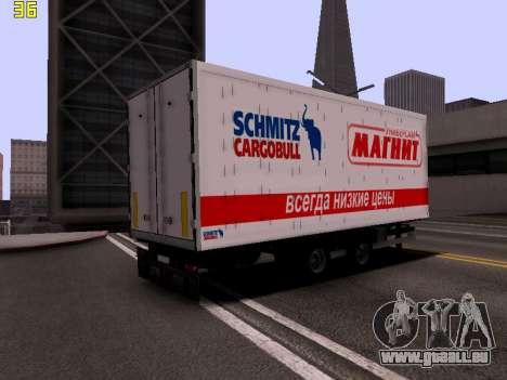 Remorque Magnit pour GTA San Andreas sur la vue arrière gauche