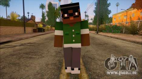Bigsmoke Minecraft Skin für GTA San Andreas