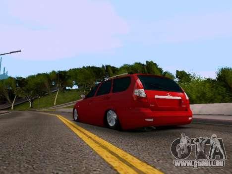 VAZ 2171 pour GTA San Andreas sur la vue arrière gauche