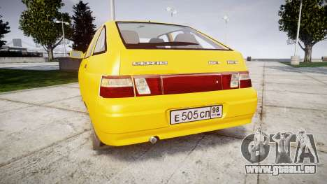 VAZ-2112 pour GTA 4 Vue arrière de la gauche