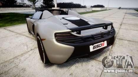 McLaren 650S Spider 2014 [EPM] v2.0 pour GTA 4 Vue arrière de la gauche