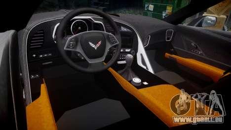 Chevrolet Corvette C7 Stingray 2014 v2.0 TireBFG pour GTA 4 est une vue de l'intérieur