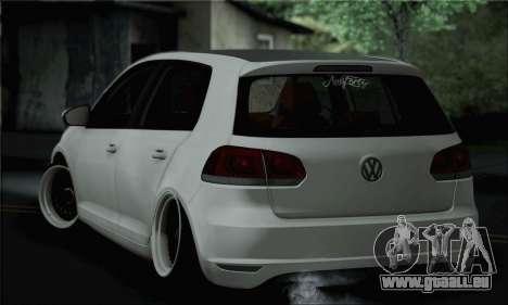 Volkswagen Golf R pour GTA San Andreas laissé vue