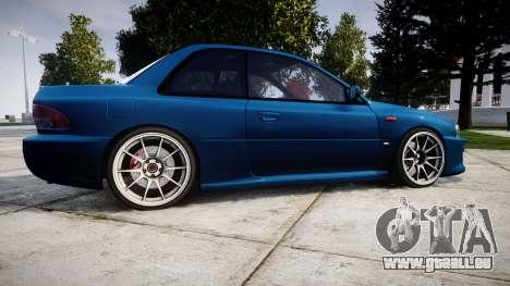 Subaru Impreza 22B Street pour GTA 4 est une gauche