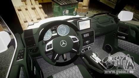 Mercedes-Benz G55 AMG Grand Edition Hamann pour GTA 4 est une vue de l'intérieur