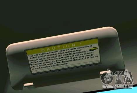 Daewoo Lanos Sport NOUS 2001 pour GTA Vice City roue