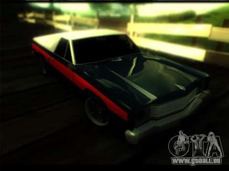 Nouveau Picador pour GTA San Andreas sur la vue arrière gauche