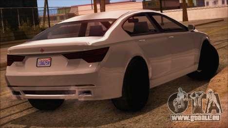 GTA 5 Ubermacht Sport IVF pour GTA San Andreas laissé vue
