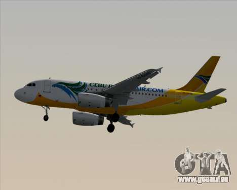 Airbus A319-100 Cebu Pacific Air für GTA San Andreas