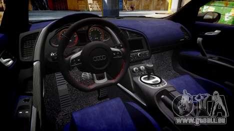 Audi R8 V10 Plus 2013 Vossen VVS CV3 für GTA 4 Innenansicht