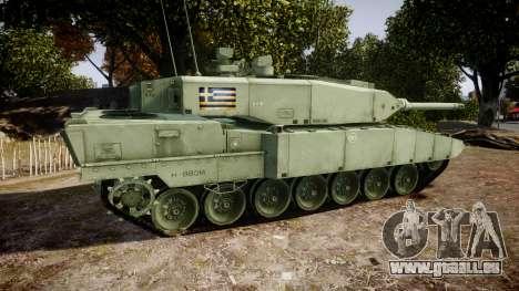 Leopard 2A7 GR Green pour GTA 4 est une gauche