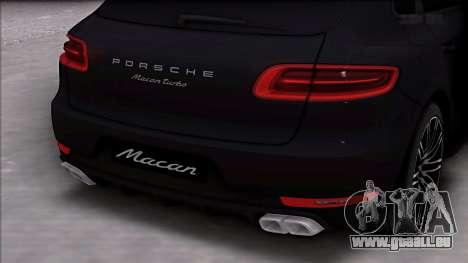 Porsche Macan Turbo pour GTA San Andreas vue de droite