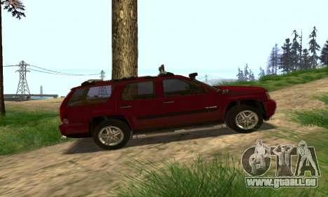 Chevrolet Tahoe Final pour GTA San Andreas vue de dessus