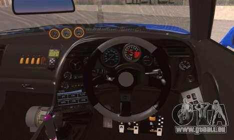 Toyota Supra pour GTA San Andreas sur la vue arrière gauche
