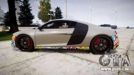 Audi R8 LMX 2015 [EPM] Sticker Bomb für GTA 4 linke Ansicht