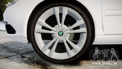 Skoda Octavia vRS Combi Unmarked Police [ELS] für GTA 4 Rückansicht