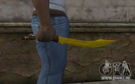 Couteau d'or pour GTA San Andreas troisième écran