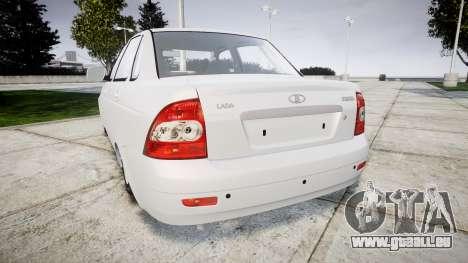 ВАЗ-Lada 2170 Priora Dubaï pour GTA 4 Vue arrière de la gauche