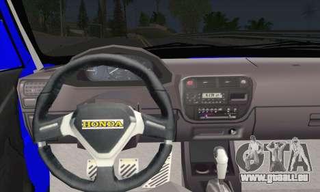 Honda Civic 34 TS 9640 INDIGO pour GTA San Andreas sur la vue arrière gauche