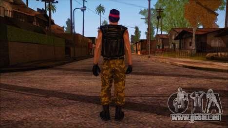 Guerilla from Counter Strike Condition Zero pour GTA San Andreas deuxième écran