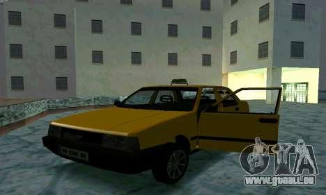 Tofas Sahin Taxi pour GTA San Andreas vue de dessous