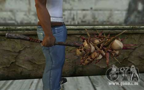 Spyked Zombie Skull Bat From Resident Evil 5 pour GTA San Andreas troisième écran