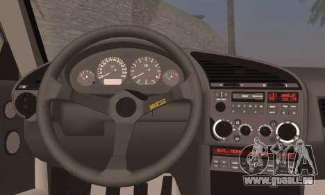 BMW M3 E36 Drift pour GTA San Andreas sur la vue arrière gauche