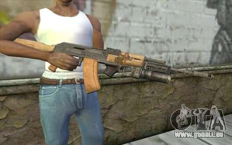AK-74 Pour assurer notre pour GTA San Andreas troisième écran