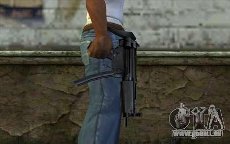 Retextured MP5 für GTA San Andreas dritten Screenshot