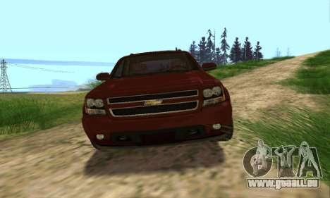 Chevrolet Tahoe Final für GTA San Andreas Unteransicht